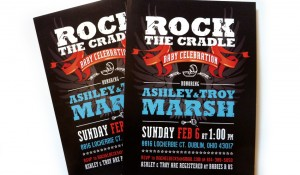 Rock The Cradle Baby Shower Invitation